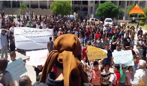 منبر الأمة: مظاهرة إدلب الحاشدة رفضا لمؤتمر الأستانة ولفصائل الخيانة