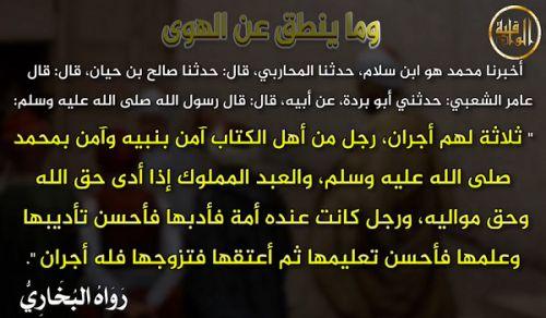 """تلفزيون الواقية: وما ينطق عن الهوى - 203 """"ثلاثة لهم أجران!"""""""