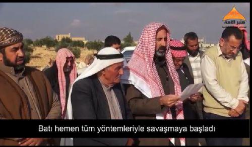 منبر الأمة: وفد من وجهاء سراقب يقدمون رسالة إلى الجيش التركي عبر نقطة تل الطوقان!