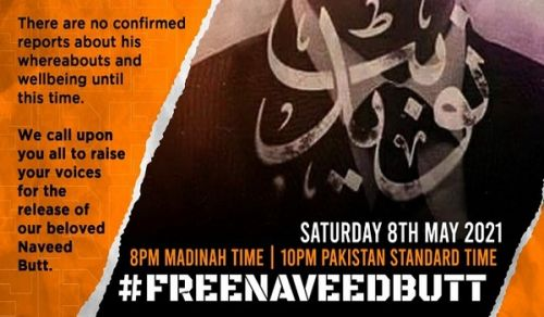 TWITTER STORM   #FreeNaveedButt… Are 10 Years of Abduction Not Enough?!
