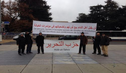Europe: Protest in front of the United Nations building in Geneva