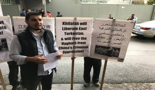 Australia: Support for our People in East Turkestan a Stand before the Chinese Embassy