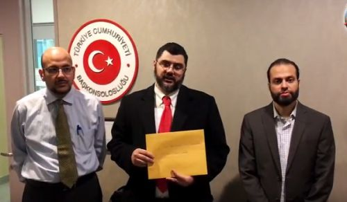 Canada: Delegation from Hizb ut Tahrir head to Turkish Embassy in Support of People of Aleppo & Syria