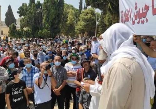 """Das gesegnete Land Palästina: Eine durchschlagende Rede an Masjid Al Aqsa: """"Die Normalisierung ist ein Verrat und Palästina wird von der Armee des Kalifats befreit."""""""