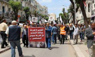 ولایه تونس: راهپیمایی وسیع مردمی برای یاری قدس و فراخواندن ارتشهای مسلمانان به آزادی سرزمین مبارک فلسطین