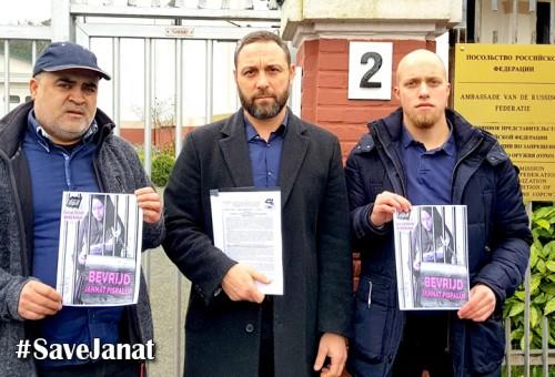 Avrupa: Tutuklu Cennet Bespalova'ya destek için Rus elçiliğine delegasyon
