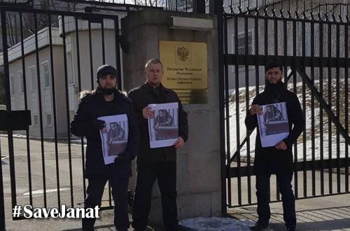 İsveç: Tutuklu Cennet Bespalova'ya destek için Rus elçiliğine delegasyon