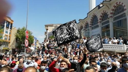 Türkiye: İSTANBUL'DA CUMA ÇIKIŞI FİLİSTİN'E DESTEK GÖSTERİSİ